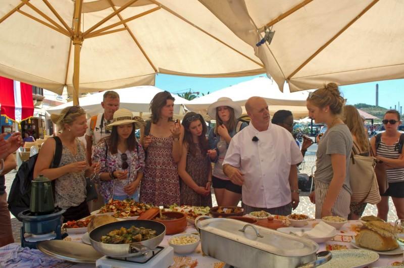 Cooking Demo in Marsaxlokk Village
