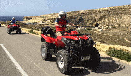 Gozo by Quad Bike + FREE Caves by Speedboat